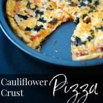 Make a healthier pizza crust out of cauliflower; then add your favorite toppings like sauce, cheese and fresh basil or grilled vegetables.