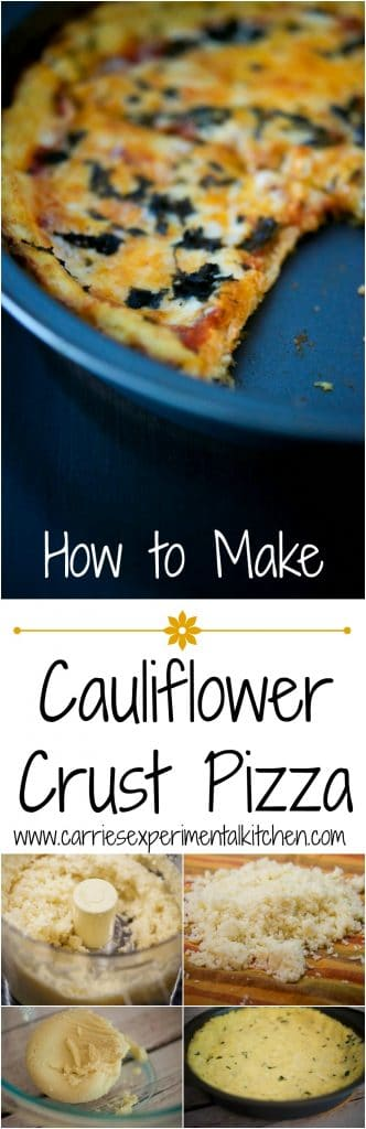 How to Make Cauliflower Crust Pizza | Make a healthier pizza crust out of cauliflower; then add your favorite toppings like sauce, cheese and fresh basil or grilled vegetables.