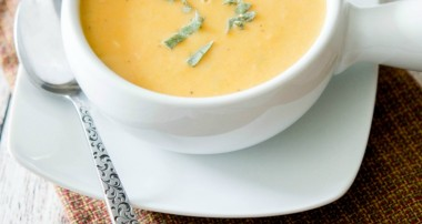 Healthy Low Fat Sweet Potato & Cannellini Bean Soup