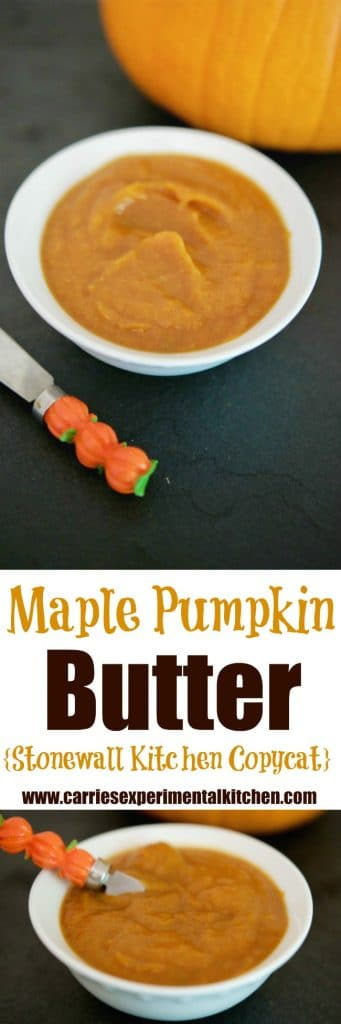 Top your favorite Fall muffins, toast or even Baked Brie with this copycat version of Stonewall Kitchen's Maple Pumpkin Butter.