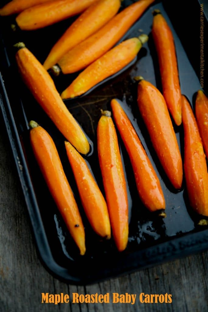 Maple Roasted Baby Carrots are simple to make, yet dress up any meal ...