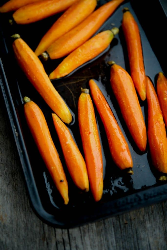 Maple Roasted Baby Carrots | CarriesExperimentalKitchen.com