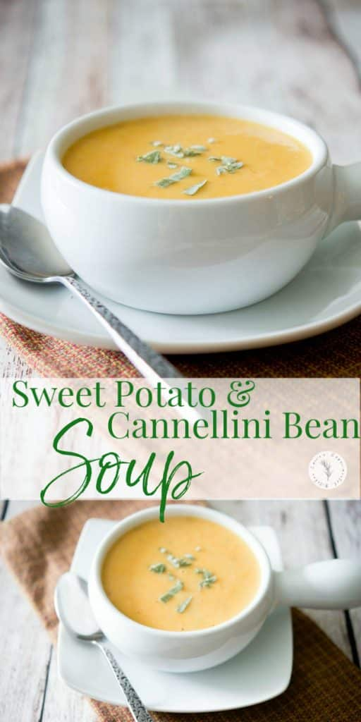 This Sweet Potato & Cannellini Bean Soup is deliciously creamy. It's packed with so many essential healthy nutrients, it will be your new favorite soup.