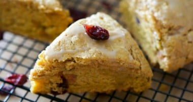 Whole Wheat Pumpkin Cranberry Scones