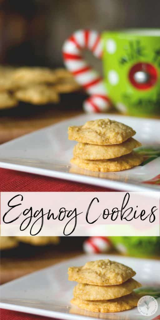 "The ""big guy"" looks forward to these soft and chewy Eggnog Cookies, made with creamy eggnog, cinnamon and nutmeg every year."