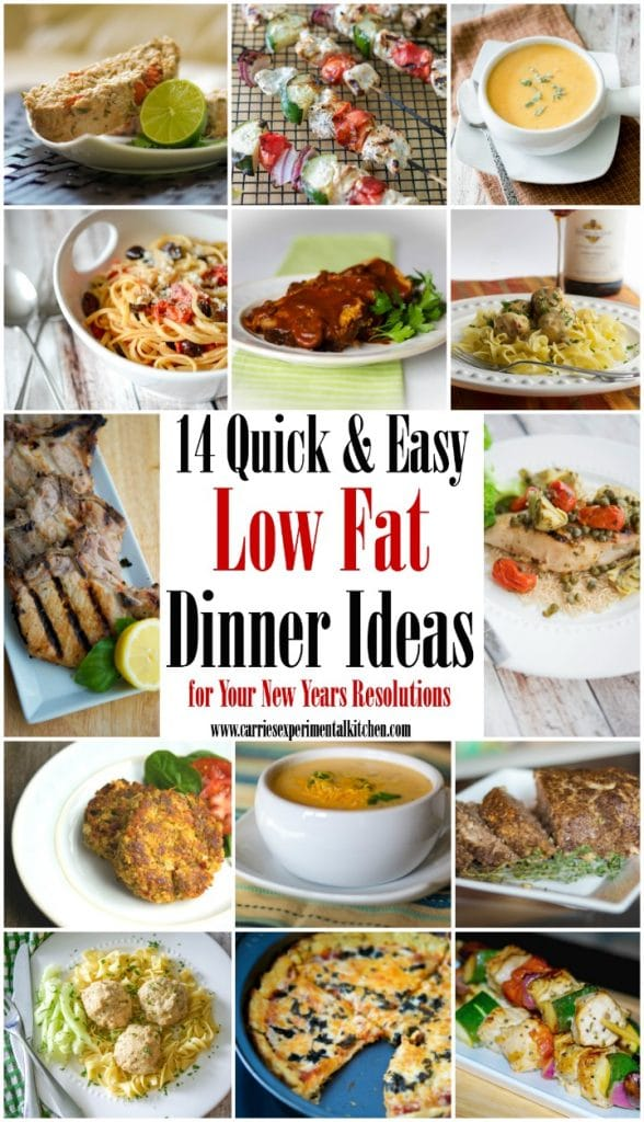 Start off the new year by eating healthier with these 14 Quick & Easy Low Fat Dinner Ideas to jumpstart your New Years resolutions.