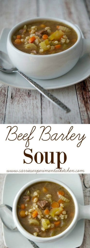 Beef Barley Soup is so satisfying and comforting; especially on those chilly nights. Serve alone or with a tossed salad and loaf of crusty Italian bread.