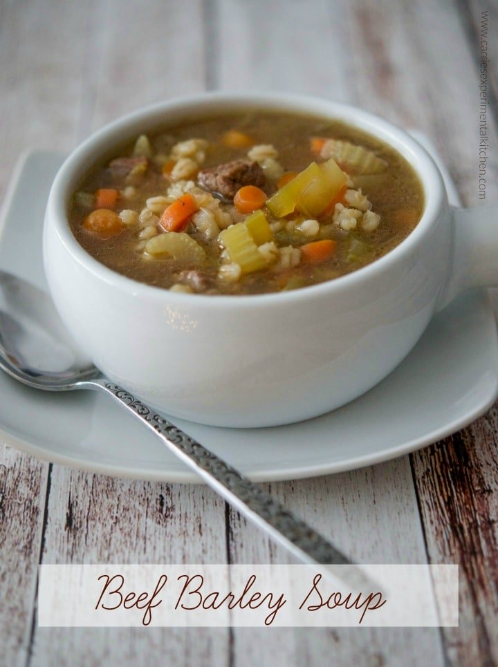 Hearty Beef Barley Soup is so satisfying and comforting; especially on those chilly nights. Serve alone or with a tossed salad and loaf of crusty Italian bread.