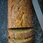 Eggnog Banana Bread made with ripe bananas, eggnog and ground nutmeg. Make into mini loaves for gift giving too!