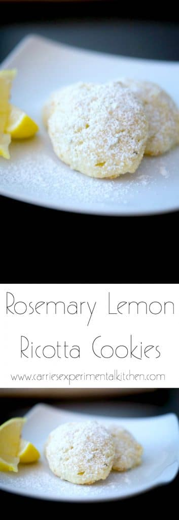 Rosemary Lemon Ricotta Cookies are soft, cake-like cookies with hints of woodsy rosemary and fresh lemon.