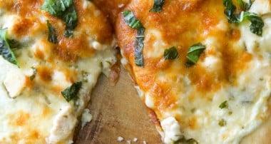 Lemon Chicken Ricotta Pizza