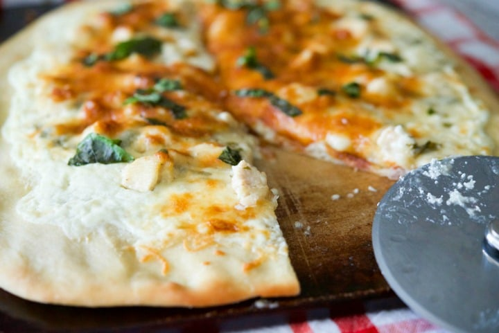 Lemon Chicken Ricotta Pizza