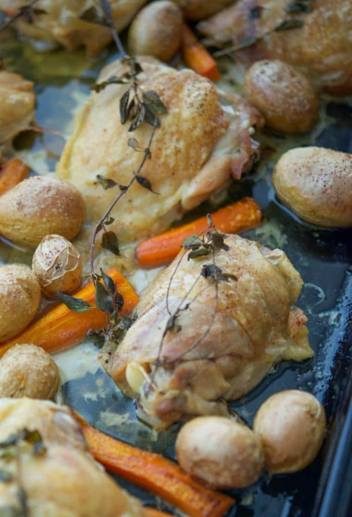 Sheet Pan Oregano Chicken & Vegetables