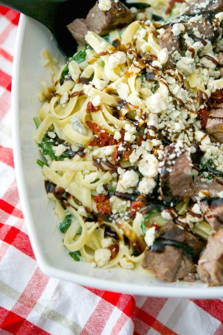 Steak Gorgonzola Alfredo (Olive Garden Copycat)   Carrieu0027s Experimental  Kitchen