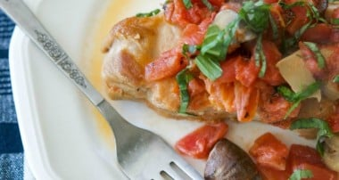 Braised Pork Chops with Tomatoes & Portobello Mushrooms