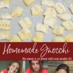 Gnocchi is pasta made with potatoes and this homemade version with Sausage Bolognese is so easy that a 10 year old is going to show you how to make it