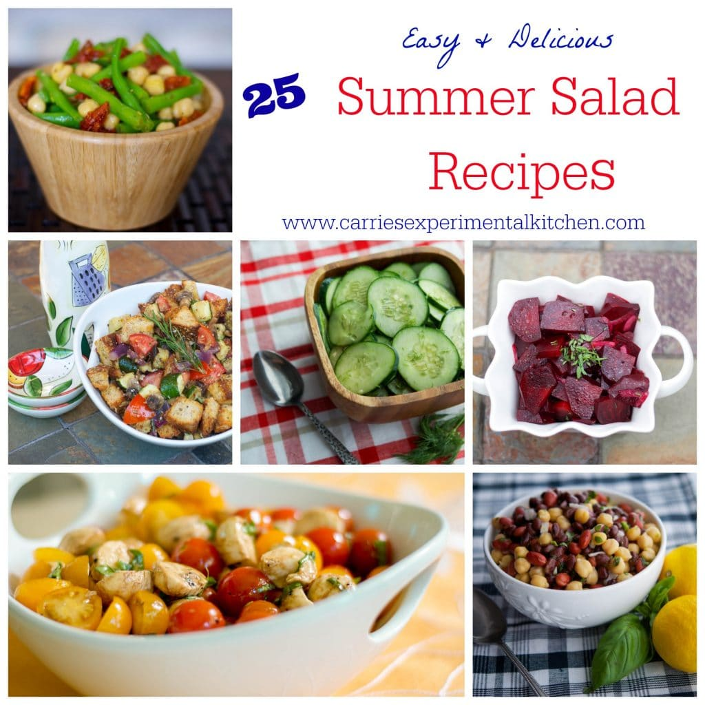 Memorial Day, July 4th, Labor Day and every outdoor get together in between. These 25 Summer Salad recipes will give you a lot of inspiration for your next get together.