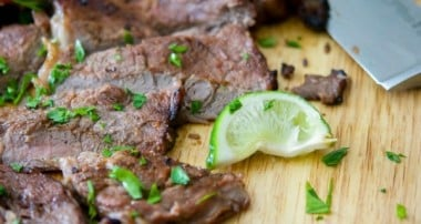 Cajun Lime Grilled Rib Eye Steak