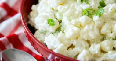 Low Carb Cauliflower Picnic Salad