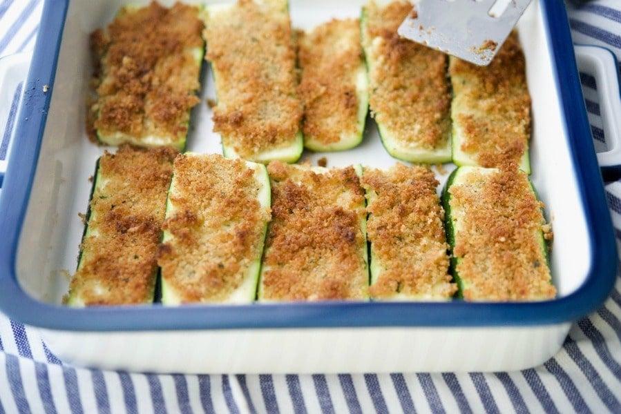 Parmesan Crusted Zucchini