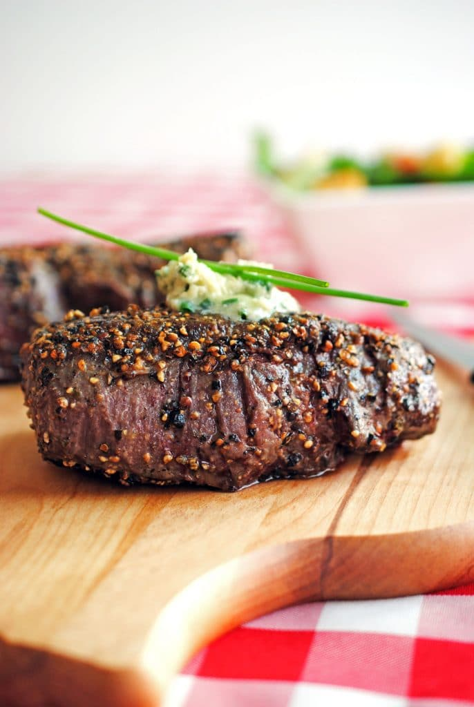 Pepper Crusted Filet Mignon | The Cake Chica