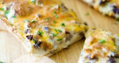 Steak & Cheddar French Bread Pizza