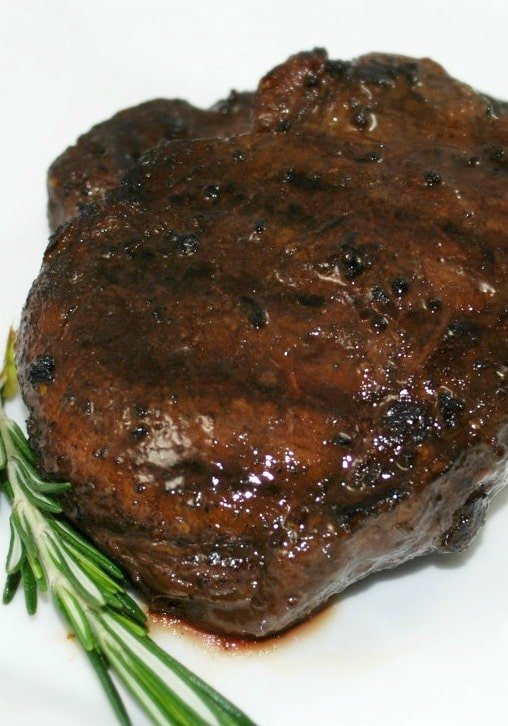 Wine and Balsamic Marinated Filet Mignon