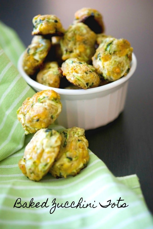 Baked Zucchini Tots - Carrie's Experimental Kitchen