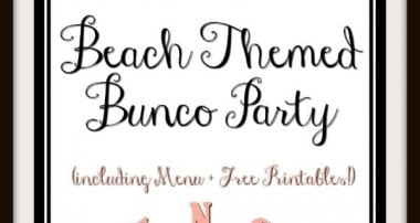 Beach Themed Bunco Party