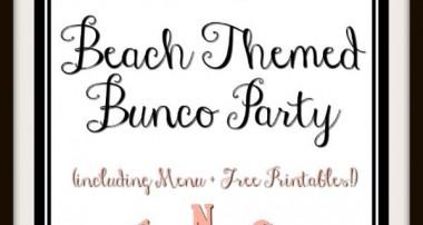 Beach Themed Bunco Party