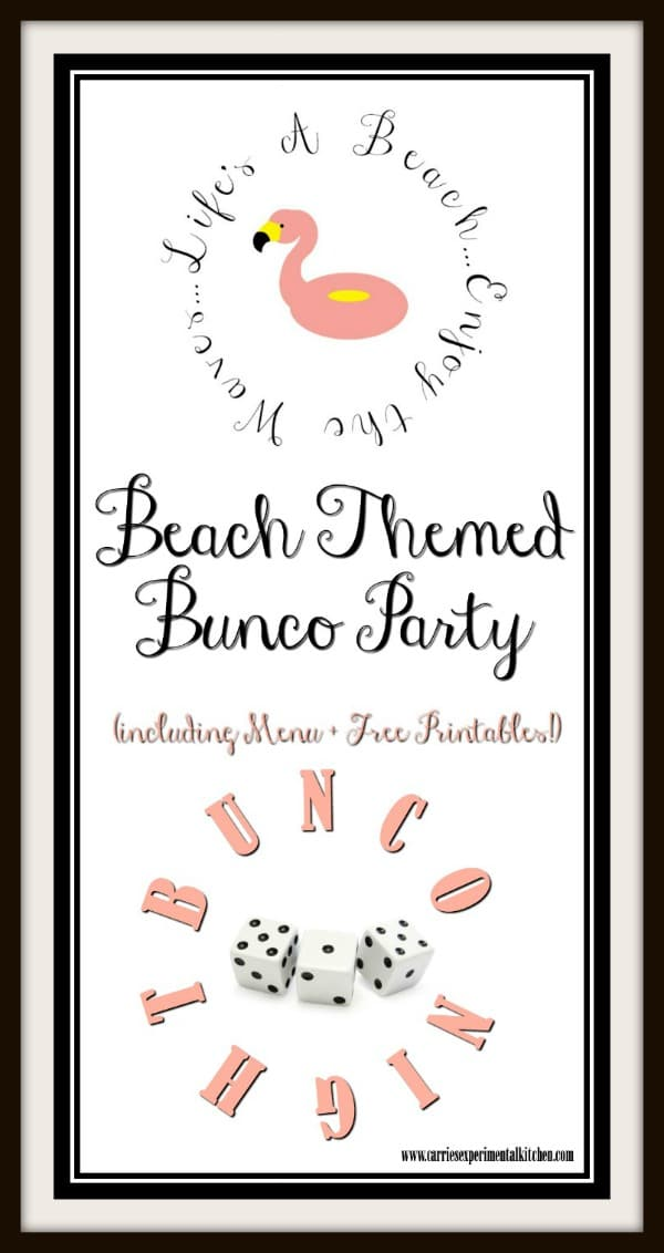 graphic regarding Cute Bunco Score Sheets Printable identify Seaside Themed Bunco Occasion - Carries Experimental Kitchen area
