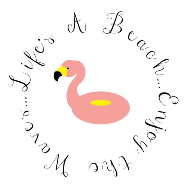 Life's a Beach Enjoy the Waves   Beach Theme Bunco Party Logo   Carrie's Experimental Kitchen