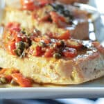 Pork with tomatoes and capers