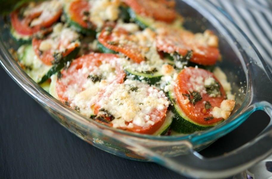 Tomato & Zucchini Gratin