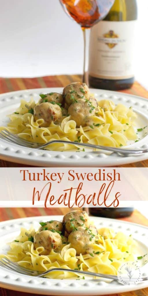 Turkey Swedish Meatballs are delicious small meatballs in a creamy sauce. Eat them on their own or place on top of noodles or rice.