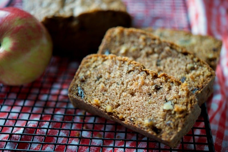 Apple Raisin Walnut Loaf Bread
