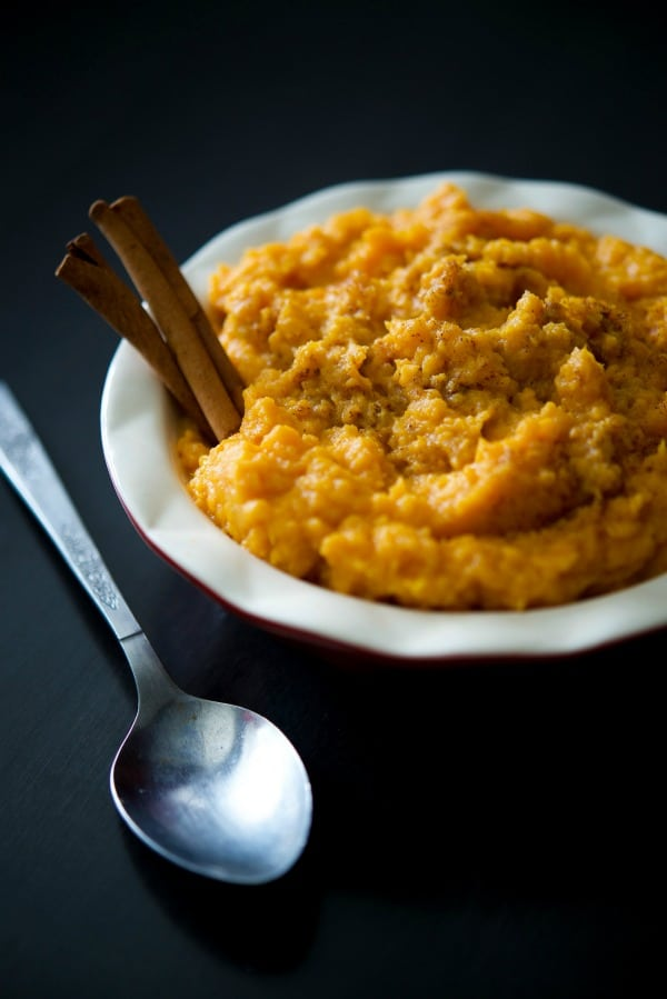 Sweet potatoes mashed until rich and creamy with Crown Royal whiskey, butter, heavy cream, brown sugar, and cinnamon. It's a family staple on our Thanksgiving table.