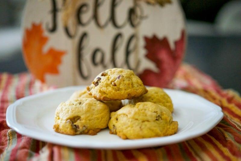 Pumpkin Pecan Sugar Cookies