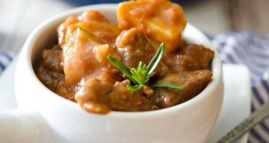 Beef Stew in a Red Wine Sauce