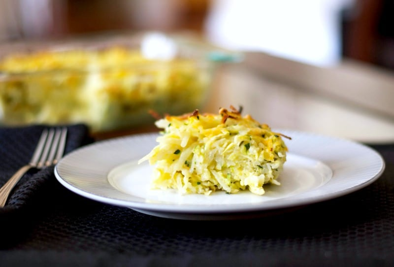 Cheesy Potato and Zucchini Kugel