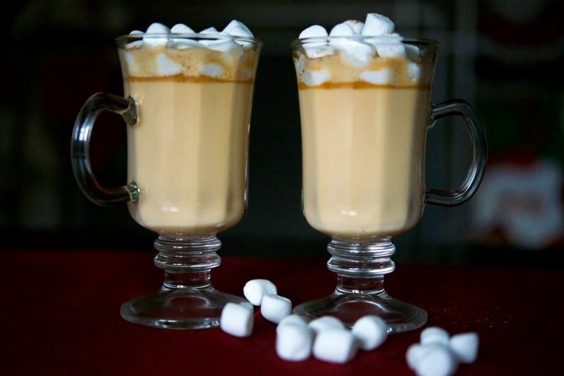 Butterscotch Eggnog Hot Chocolate