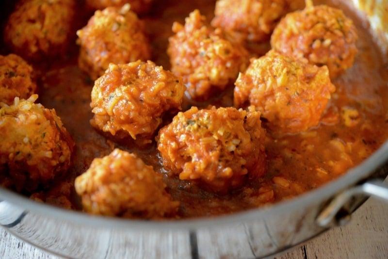 Chicken & Rice Meatballs