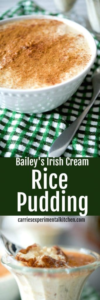Bailey's Irish Cream Rice Pudding has a deliciously creamy, nutty flavor and makes a tasty dessert the entire family will love.