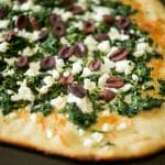 Spinach, Goat Cheese & Kalamata Olive Flatbread
