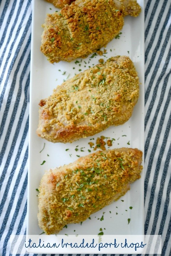 Simple to make with only three ingredients, these Italian Breaded Pork Chops will be your new go-to weeknight dinner recipe.