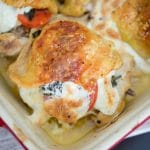 Caprese Stuffed Chicken Thighs