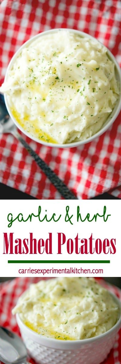 Creamy Garlic & Herb Mashed potatoes made with Russet potatoes, Garlic & Herb Boursin Cheese, heavy cream and salted butter.#potatoes #sidedish #mashedpotatoes