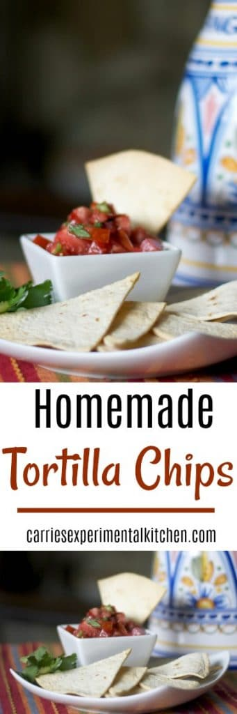 By making your own crispy Homemade Tortilla Chips, you can control the fat content; especially when using a cooking spray in lieu of deep frying.