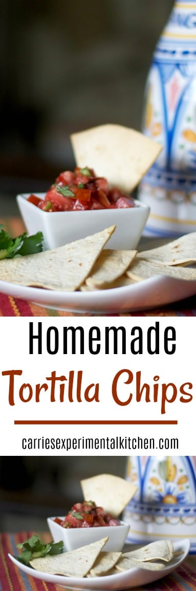 By making your own crispy Homemade Tortilla Chips, you can control the fat content; especially when using a cooking spray in lieu of deep frying. #chips #snacks
