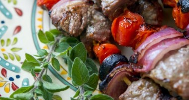 Greek Beef Skewers